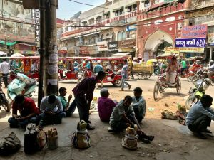 A view of Chandni CHowk, Old Delhi